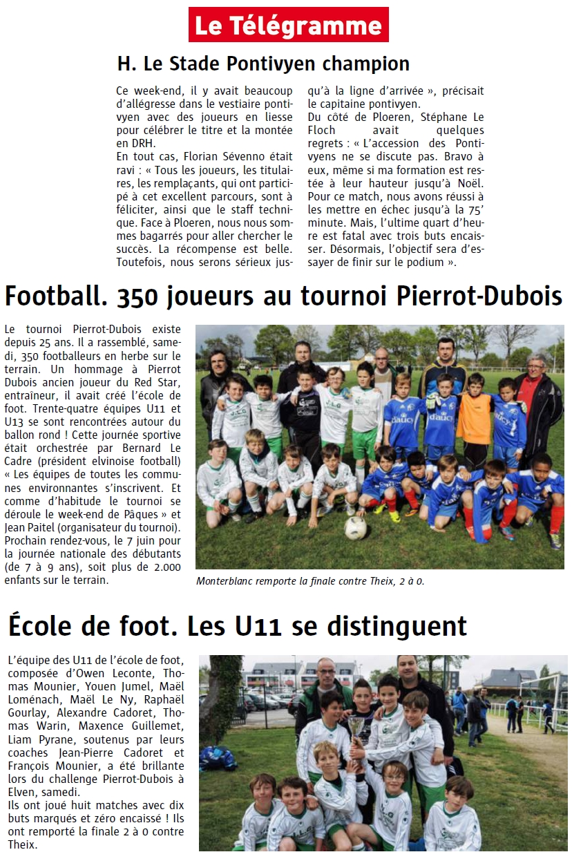 articles du 29 avril 2014