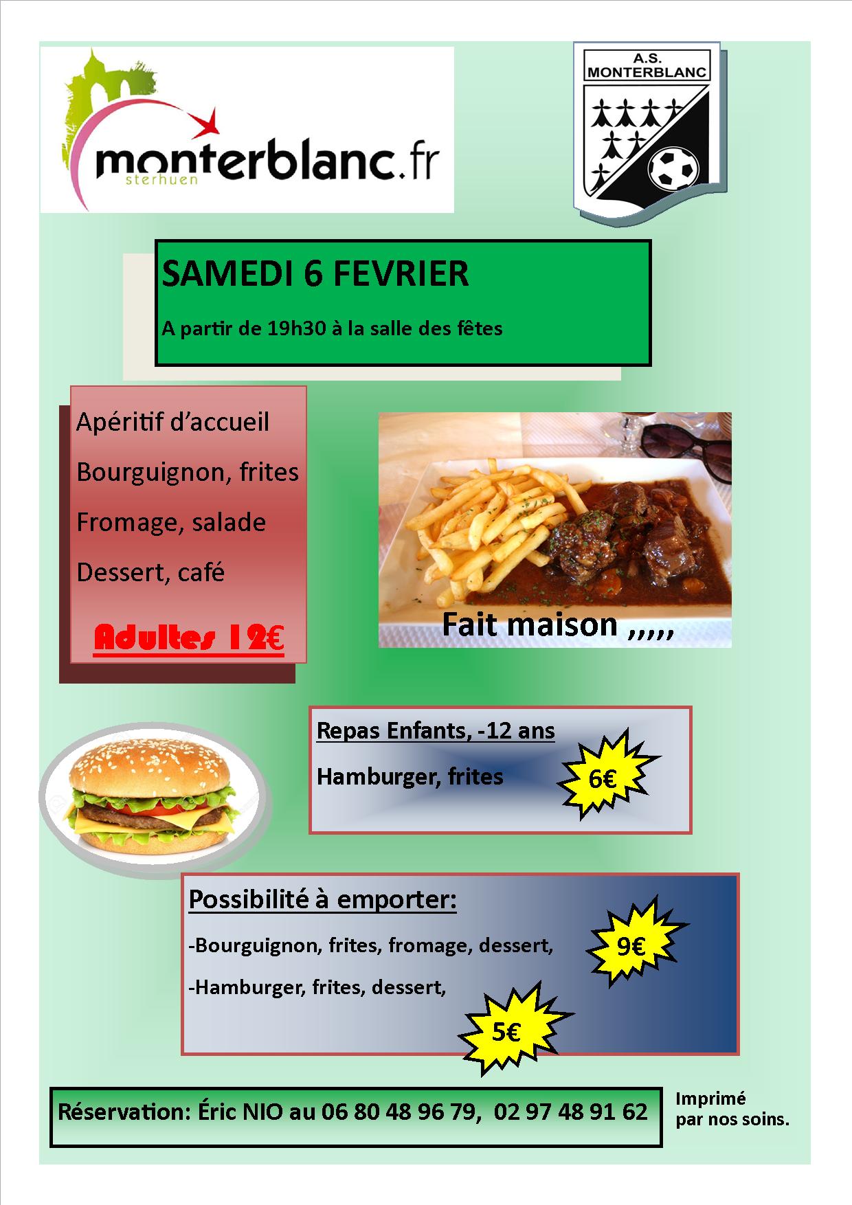 Repas Bourguignon ASM
